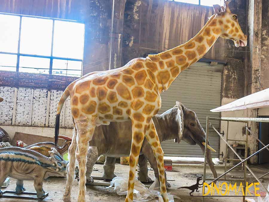 Animatronic Giraffe in workshop