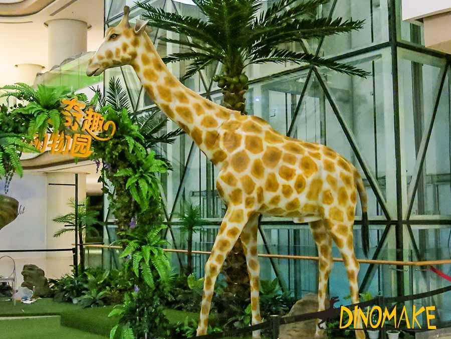 Animatronic Giraffe in shopping mall