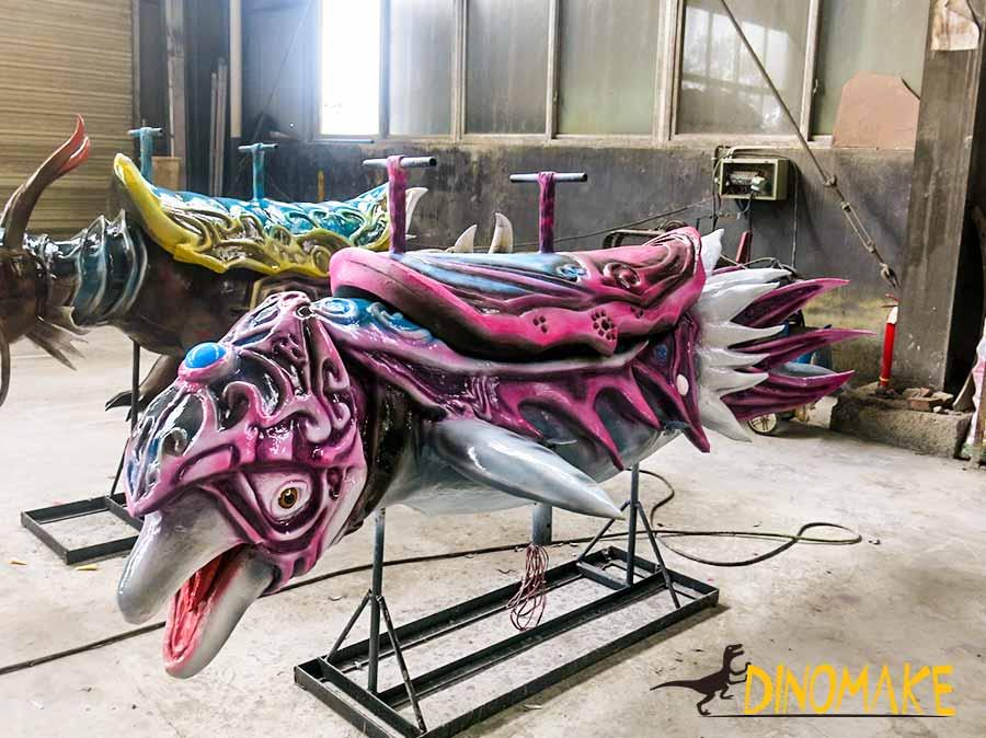 animatronic dolphin carousel