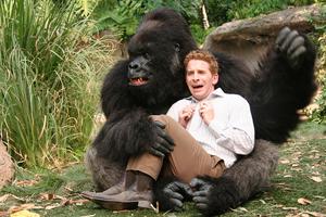 animatronic gorilla costume with people