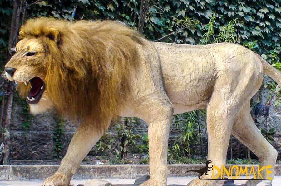 Animatronic male lion