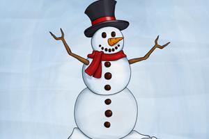 Draft of snowman