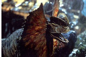 Dilophosaurus in film Jurassic Park