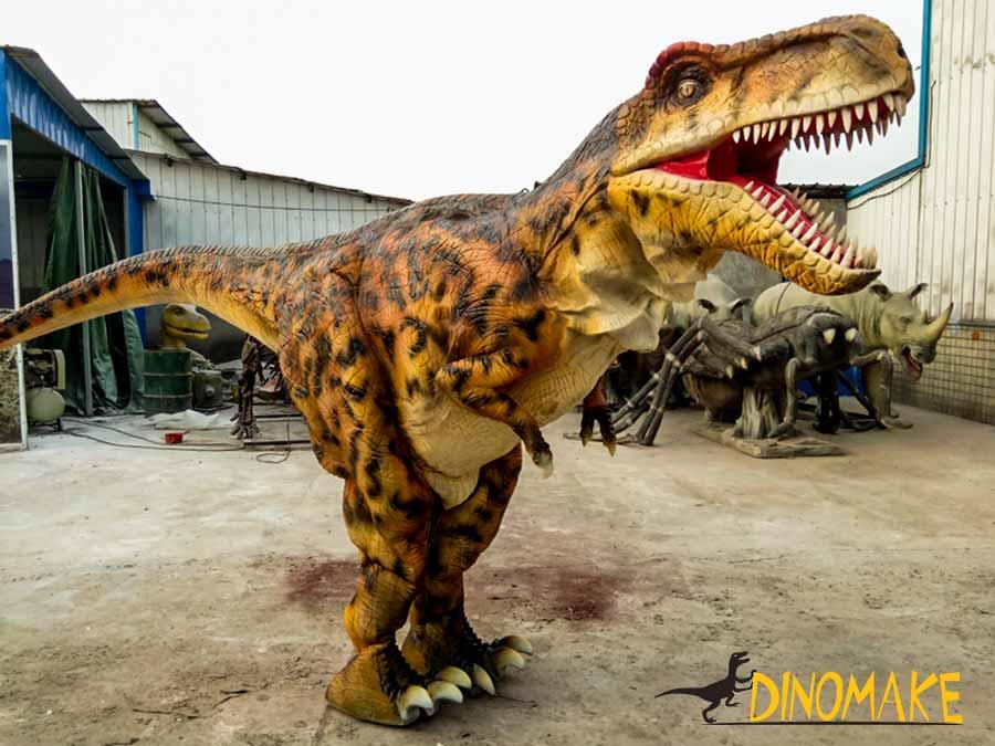 hidden legs t-rex costume