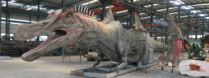 dinosaur on production in factory