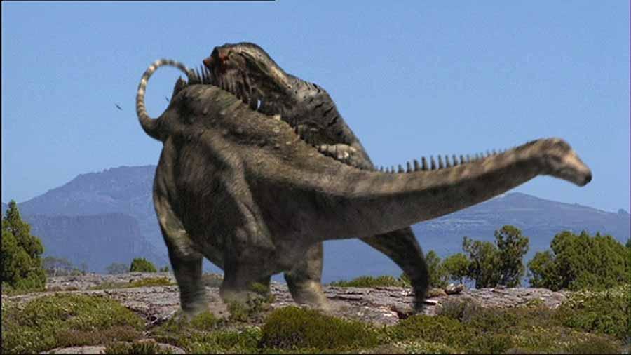 Allosaurus-attacks-Diplodocus