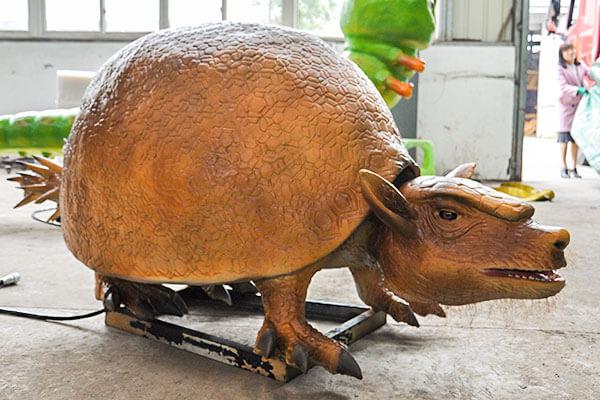 Animatronic Glyptodon in factory