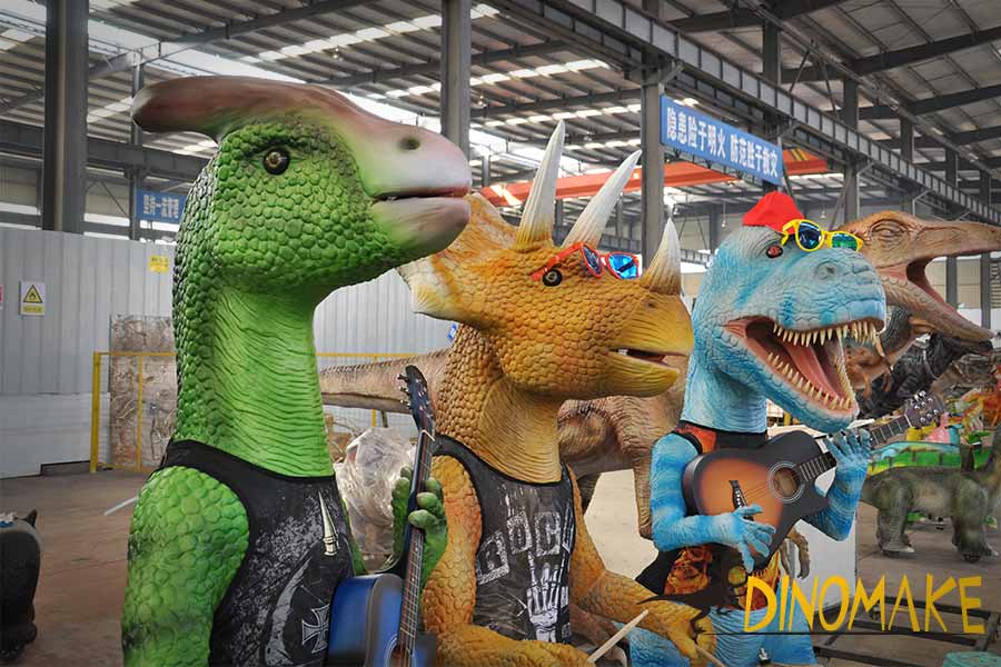 Interactive dinosaur band