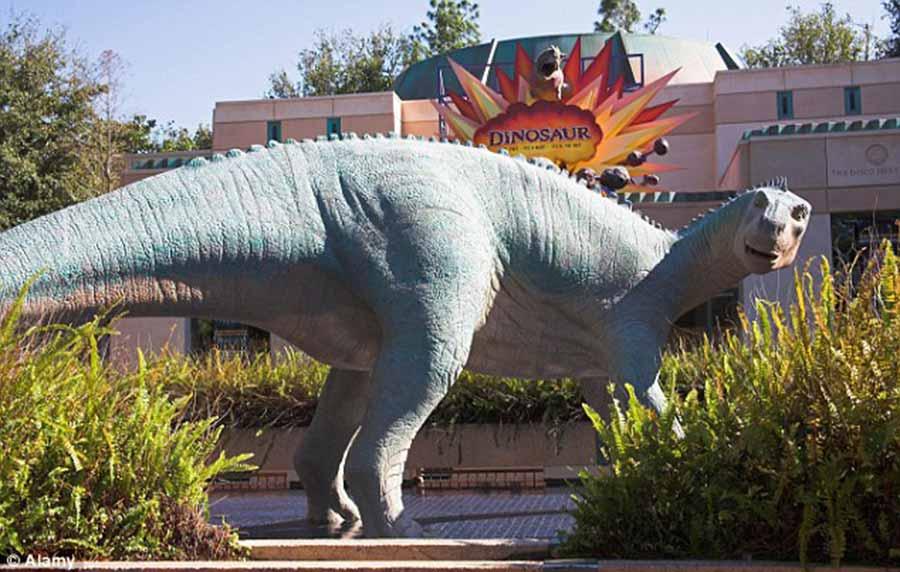 Iguanodon statue in DisneyLand