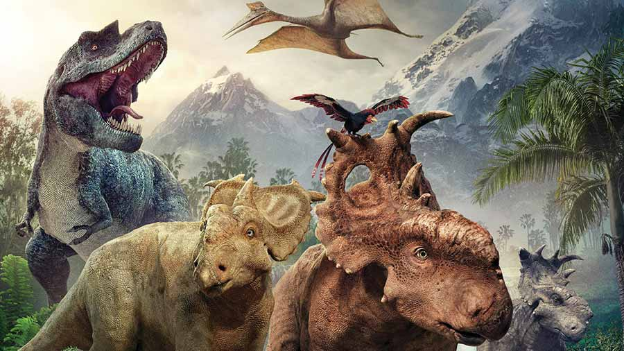 Animation film walking with dinosaurs