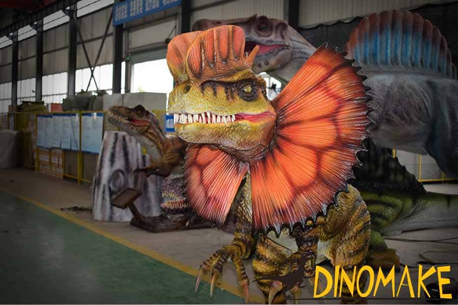 Dilophosaurus in workshop