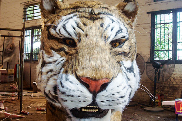 animatronic tiger