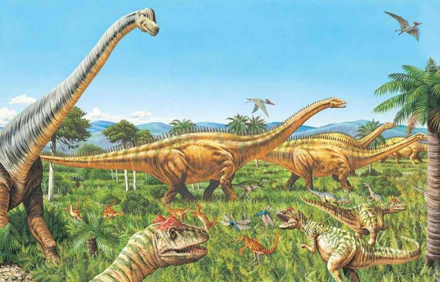 dinosauir-in-Mesozoic
