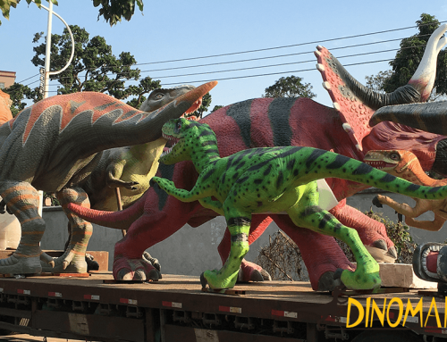 How to transport large-scale animatronic dinosaur models?