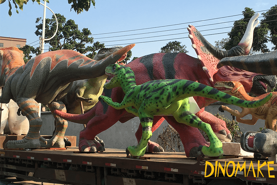 fiberglass dinosaurs on transportation