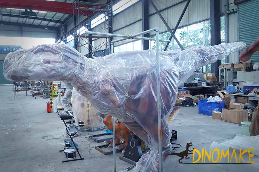 Packed dinosaur suit
