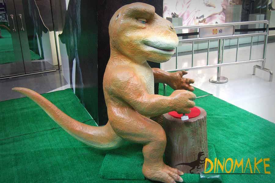 Stamping dinosaur
