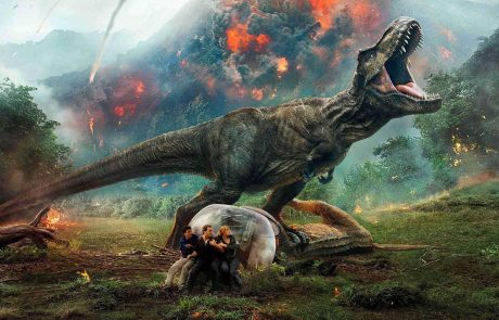 t-rex in film jurassic world