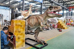 T-rex ride in workshop