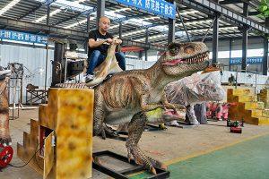 T-rex ride in workshop