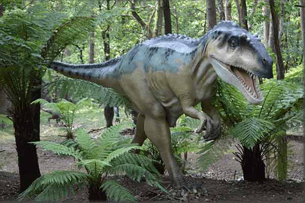 Allosaurus statue after painted