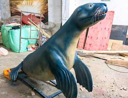 Animatronic Sea Lion Statue