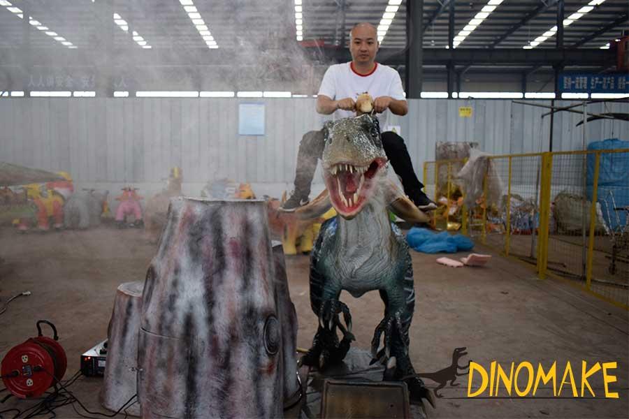 Blue Velociraptor Dinosaur Ride
