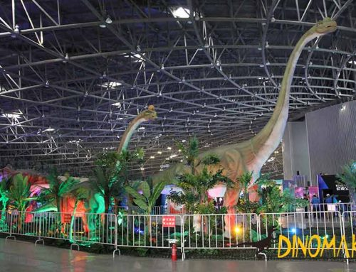 Dinosaur Theme Exhibition At Night