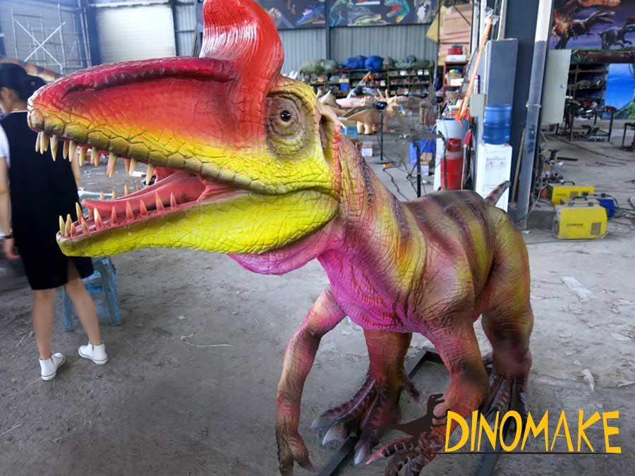 Animatronic Cryolophosaurus