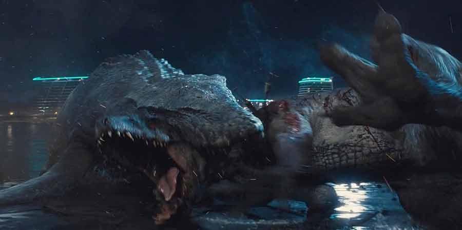 Mosasaurus killed the Idominus-Rex