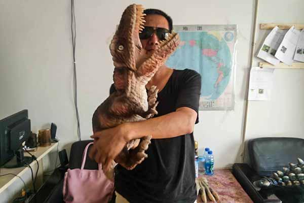 T rex hand puppet