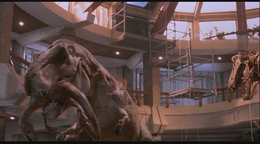 T-rex killed the velociraptor