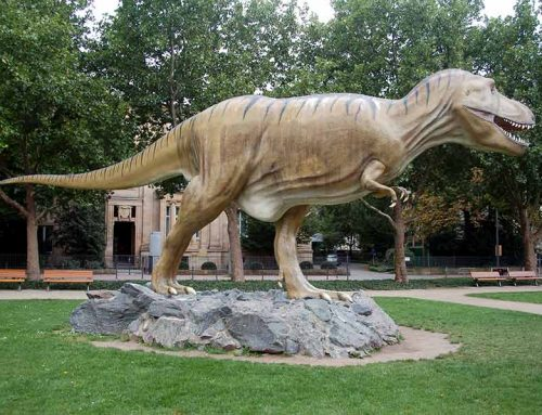 Beautiful Fiberglass Dinosaur Statue