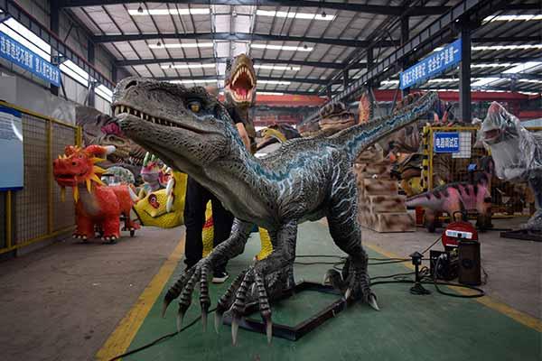 Velociraptor Blue Statue