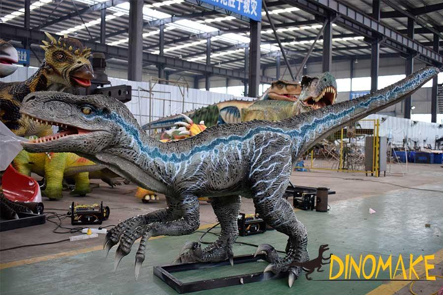 Velociraptor Blue animatronic
