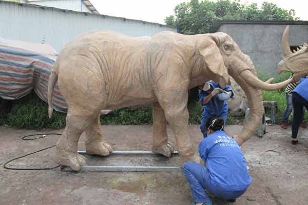 Animatronic Elephant On Skin Grafting