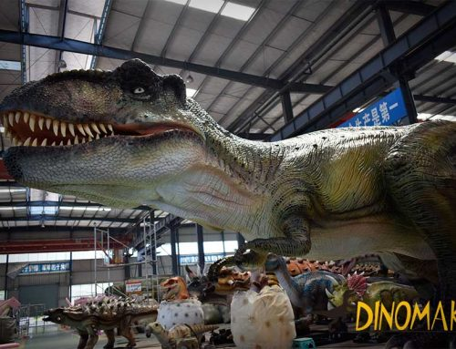 Animatronic T-rex In the Factory