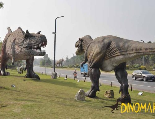 Dinosaur Theme Park Near Road