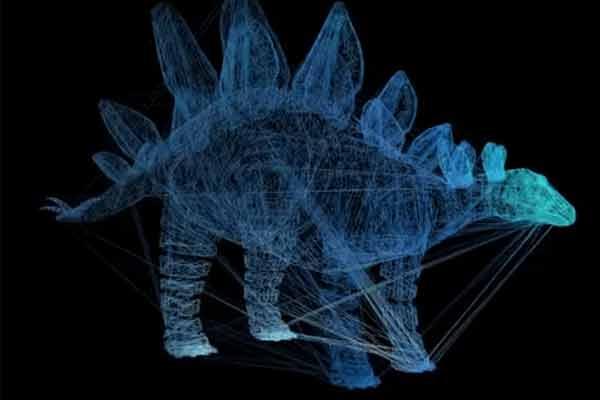 3D model of dinosaur
