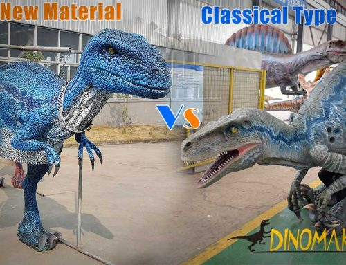 The New Material Blue Velociraptor Costume
