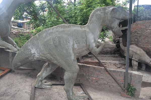 Allosaurus statue after polished