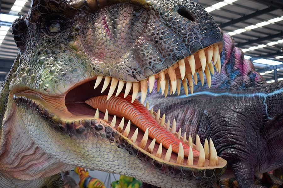 Details of the animatronic dinosaur skin