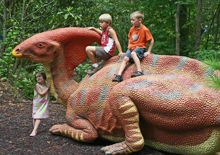 Fiberglass Parasaurolophus