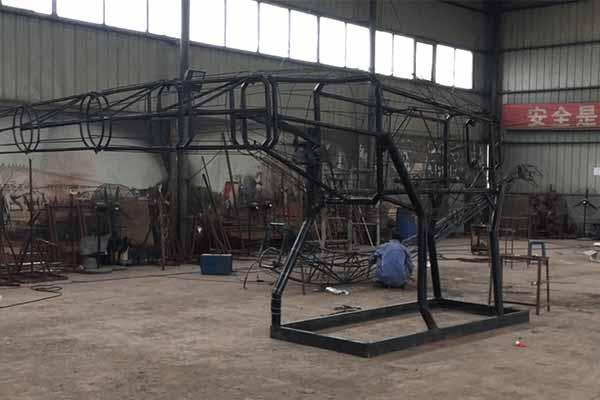 animatronic dinosaur frame