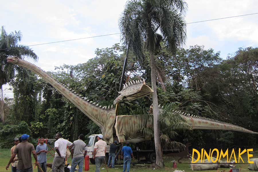 The giant diplodocus statue