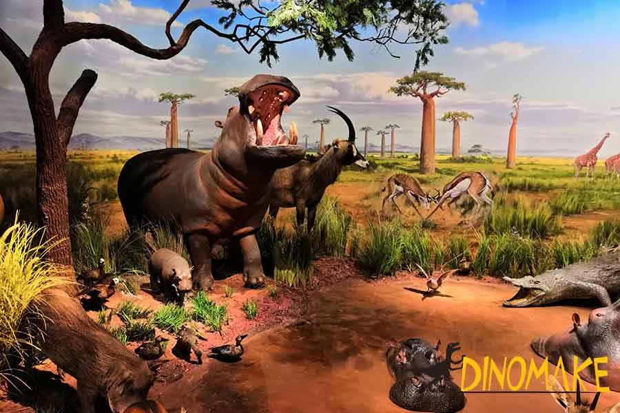 Realistic hippopotamus