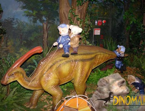 When The Teddy Bears Meet Animatronic Dinosaurs