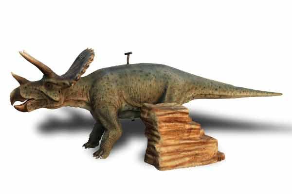 triceratops animatronic ride