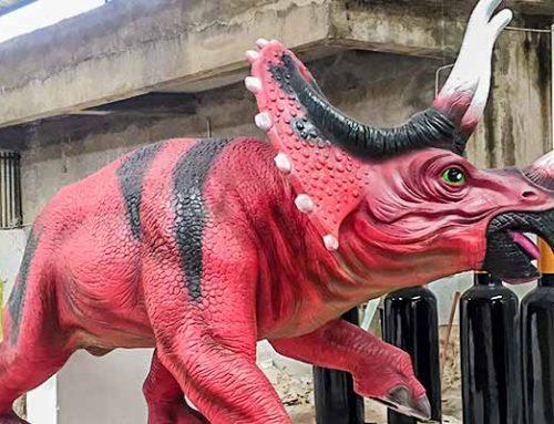 Fiberglass Triceratops