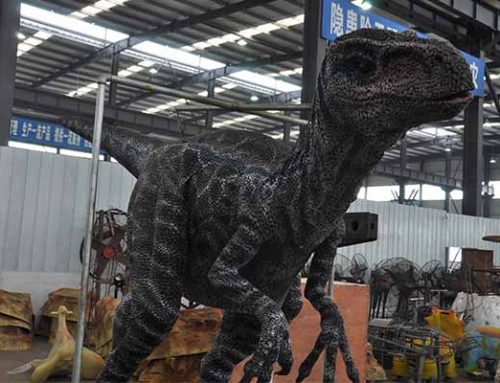 New Material Blue Velociraptor Suit